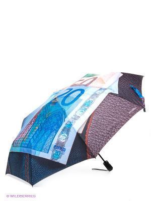 Зонт Flioraj. Цвет: синий, коричневый