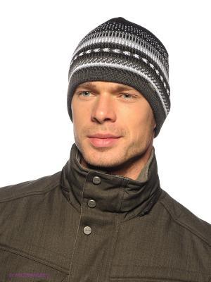 Шапка Viking caps&gloves. Цвет: черный, белый, серый