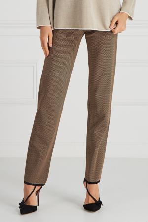 Фактурные брюки Maison Ullens. Цвет: коричневый