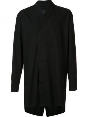 Длинная рубашка с запахом D.Gnak. Цвет: чёрный