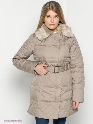 Пальто New Look. Цвет: бежевый