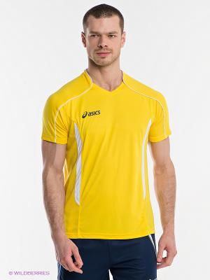 Футболка T-SHIRT VOLO ASICS. Цвет: желтый