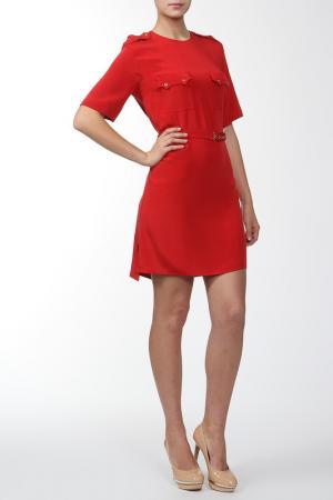 Мини платье с карманами Joseph. Цвет: красный