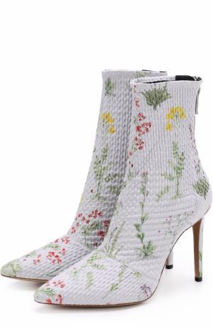 Текстильные ботильоны с принтом на шпильке Altuzarra. Цвет: лиловый
