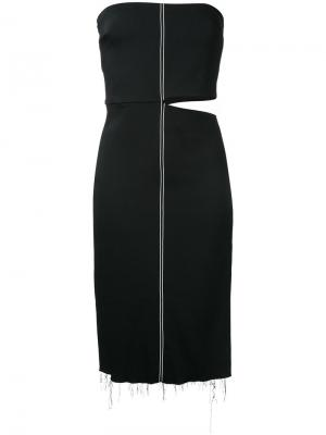 Stretch crepe strapless dress Bassike. Цвет: чёрный