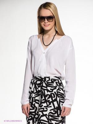 Блузка OBJECT. Цвет: белый