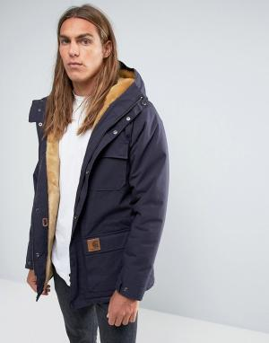 Carhartt Куртка с подкладкой из искусственного меха WIP Mentley. Цвет: темно-синий