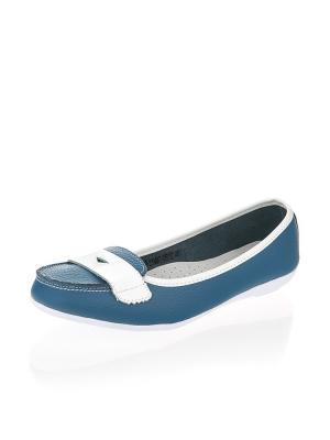 Мокасины Zenden. Цвет: синий