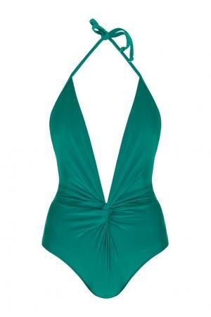 Слитный купальник Adriana Degreas. Цвет: зеленый