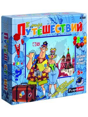 Настольная игра В мире путешествий PLAY LAND. Цвет: бежевый, белый, бирюзовый, голубой, желтый, зеленый, золотистый, индиго, коралловый, коричневый, красный, лазурный, лиловый, малиновый, черный