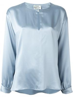 Блущка свободного кроя Forte. Цвет: синий