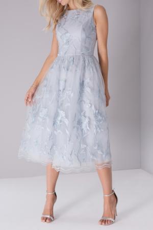 Платье CHI LONDON. Цвет: grey