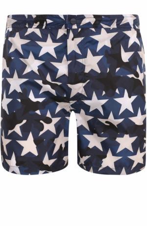 Плавки-шорты с принтом Valentino. Цвет: синий