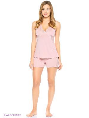 Пижама ASOLINDA. Цвет: розовый