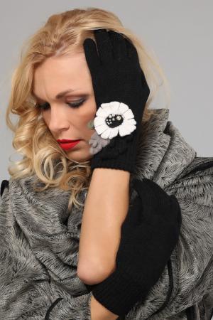 Перчатки LakMiss. Цвет: черный