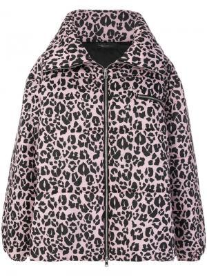Пуховое пальто Barbara Bologna. Цвет: розовый и фиолетовый