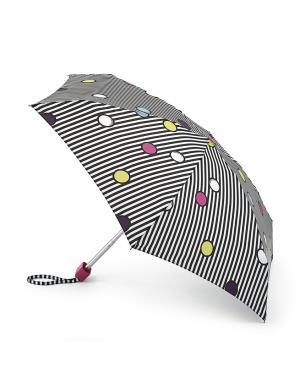 Зонт механический Горошек и полоски  by Fulton Lulu Guinness. Цвет: multicolor