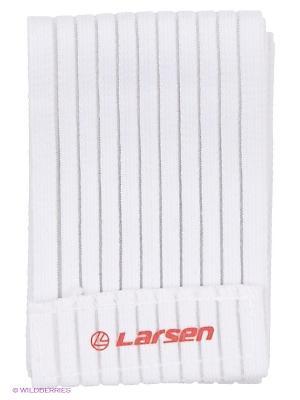 Бинт эластичный на колено Larsen. Цвет: белый