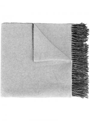 Шарф с логотипом Études. Цвет: серый