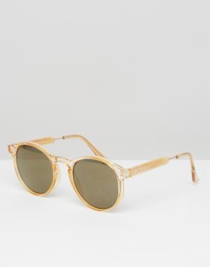 AJ Morgan Круглые солнцезащитные очки. Цвет: желтый