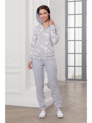 Спортивный костюм CLEO. Цвет: серый, розовый