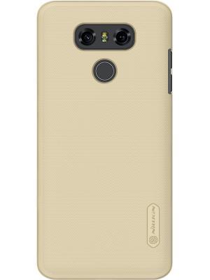 Накладка Nillkin Super Frosted Shield для телефона LG G6. Цвет: золотистый