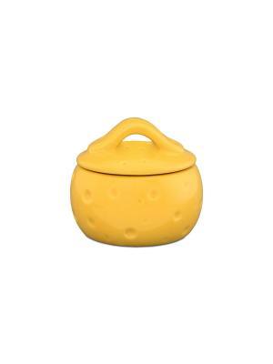 Банка для тертого сыра Сыр Elan Gallery. Цвет: желтый
