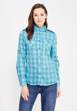 Рубашка DuckyStyle. Цвет: бирюзовый