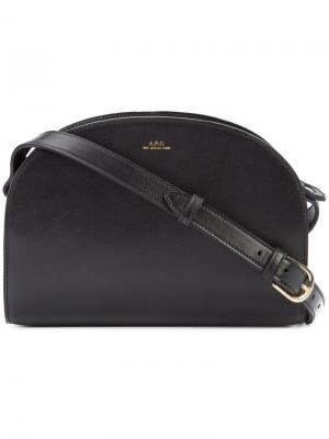Zipped shoulder bag A.P.C.. Цвет: чёрный