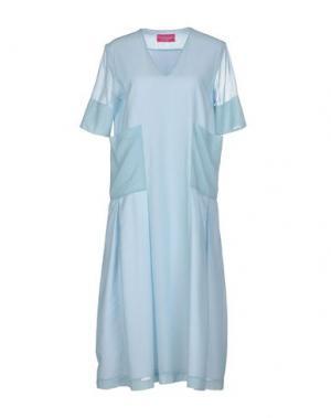 Платье длиной 3/4 CARLO CONTRADA. Цвет: небесно-голубой
