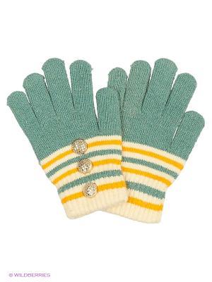 Перчатки Shapkoff. Цвет: серо-зеленый, светло-желтый
