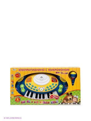 Электропианино Маша и Медведь Играем вместе. Цвет: синий, белый