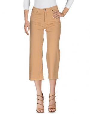 Джинсовые брюки KONTATTO. Цвет: песочный