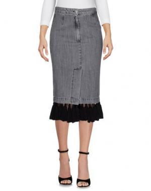 Джинсовая юбка AU JOUR LE. Цвет: серый