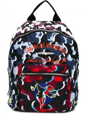 Рюкзак с принтом Nafsika Skourti. Цвет: многоцветный