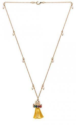 Tassel pendant necklace Anton Heunis. Цвет: металлический золотой