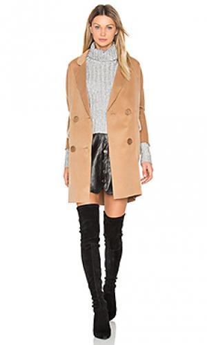 Пальто с рукавом 3/4 BLQ BASIQ. Цвет: цвет загара