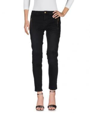 Джинсовые брюки MONOCROM. Цвет: черный