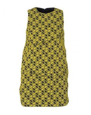 Короткое платье JULIAN KEEN. Цвет: желтый