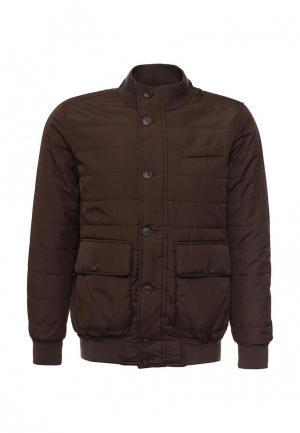 Куртка утепленная Piazza Italia. Цвет: коричневый