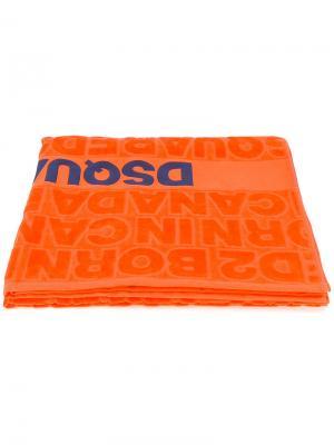 Пляжное полотенце Born in Canada Dsquared2. Цвет: жёлтый и оранжевый