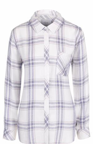 Блуза свободного кроя в клетку Rails. Цвет: белый