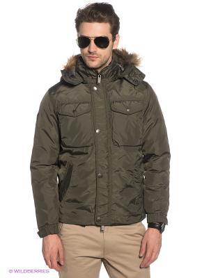 Куртка Marville. Цвет: серо-зеленый