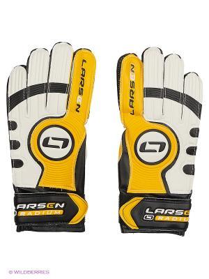 Перчатки вратарские Radium Larsen. Цвет: желтый, белый, черный