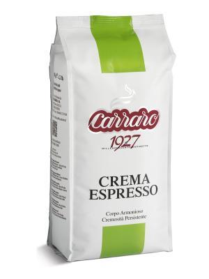 Crema Espresso 1 кг кофе в зернах CARRARO. Цвет: коричневый