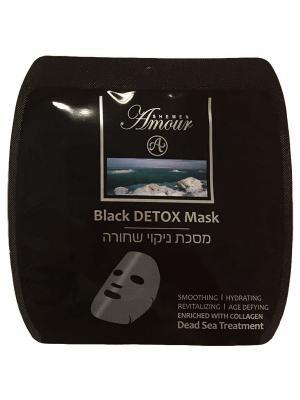 Маска для лица Shemen Amour Black Detox тканевая. Цвет: черный
