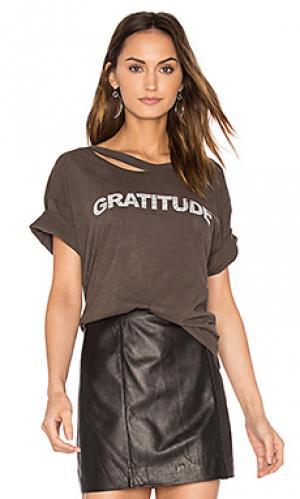 Футболка workshope gratitude Stillwater. Цвет: серый