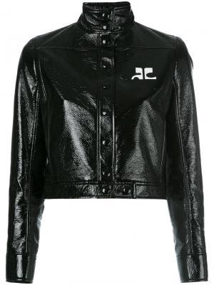Куртка Vynil Courrèges. Цвет: чёрный