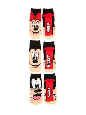 Носки ТВОЕ. Цвет: черный, красный, темно-бежевый