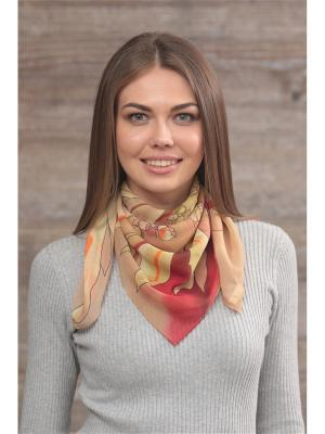Платок FOMAS. Цвет: оливковый, бордовый